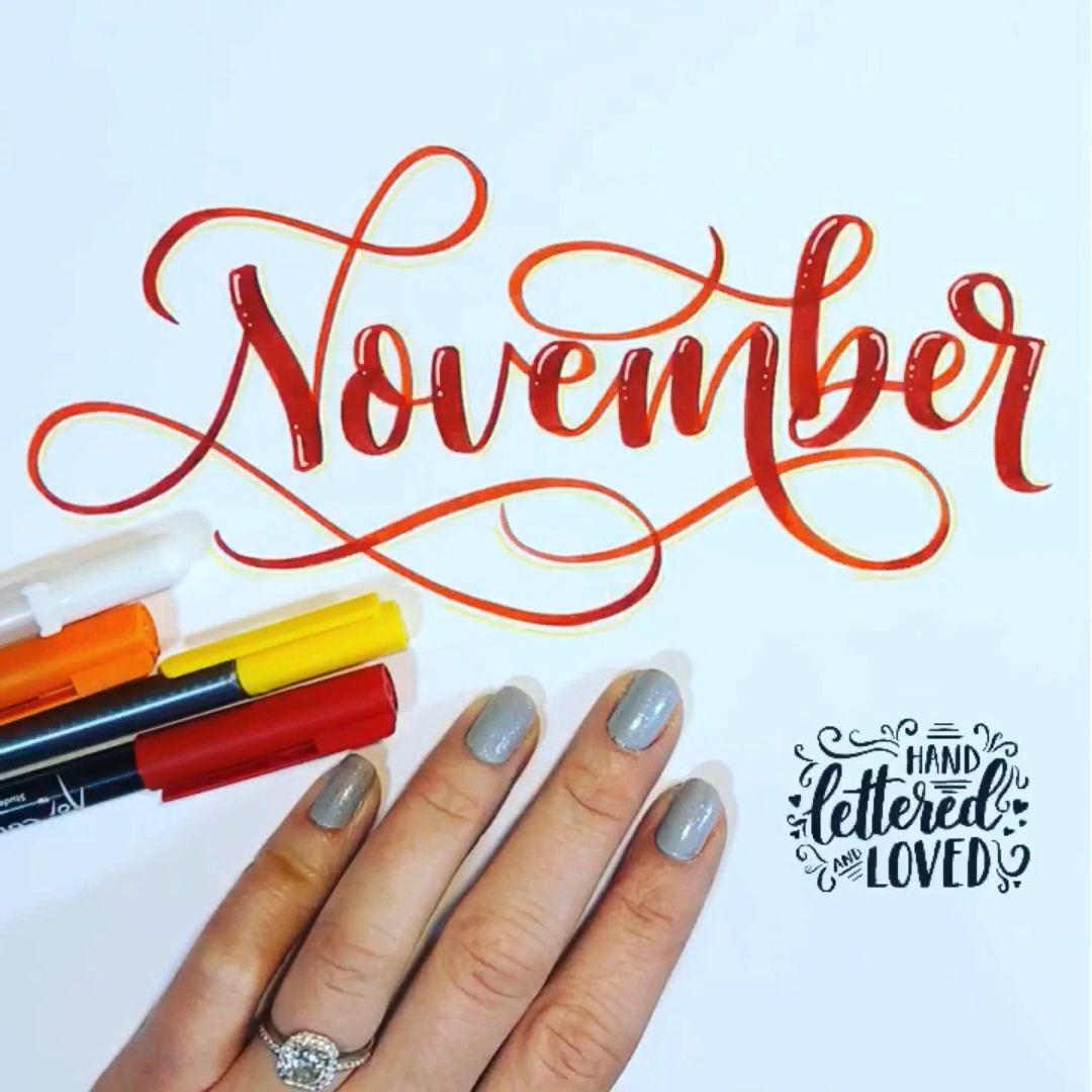 Photo of November lettering 🍁🍂