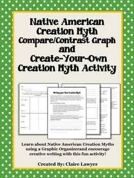 Native American Creation Myth Compare Contrast Graph Creative Writing Activity Literature Lesson Lessons Essay Idea Example Argument