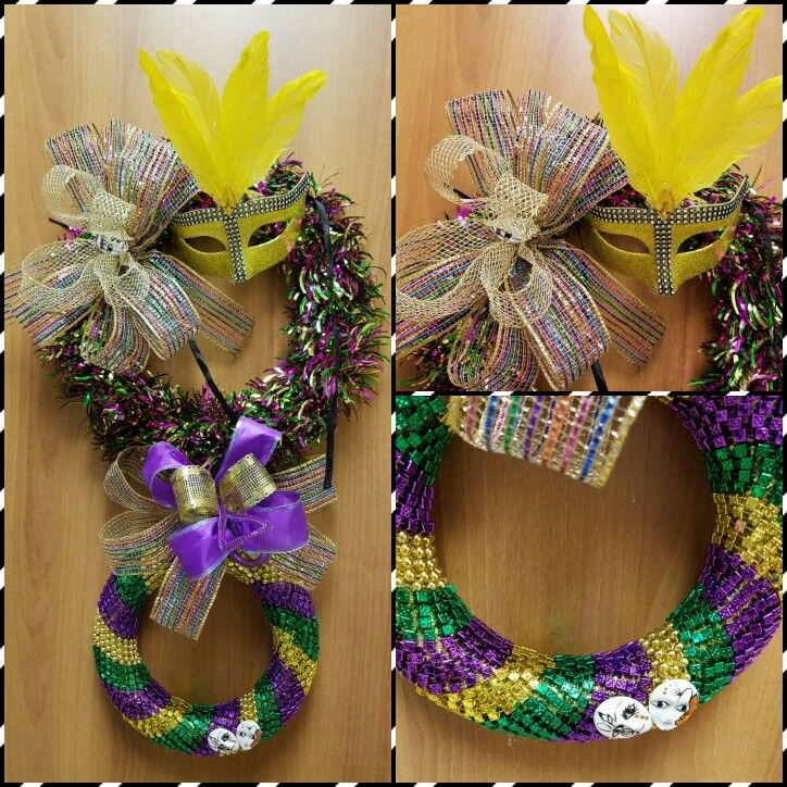 mardi gras wreath dollar tree supplies wire wreath