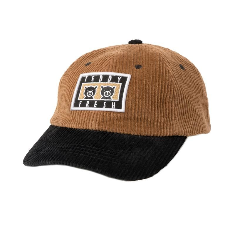 Corduroy two teds patch hat hats corduroy dad hats