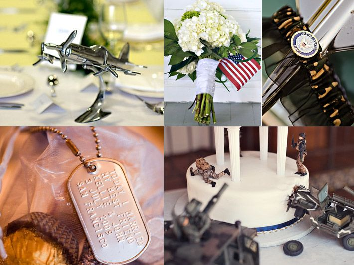 Inspiration Board: Adding a Military Touch | Military, Weddings and ...