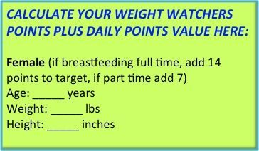 Weight watchers 360 points plus calculator bigger buttons 2013.