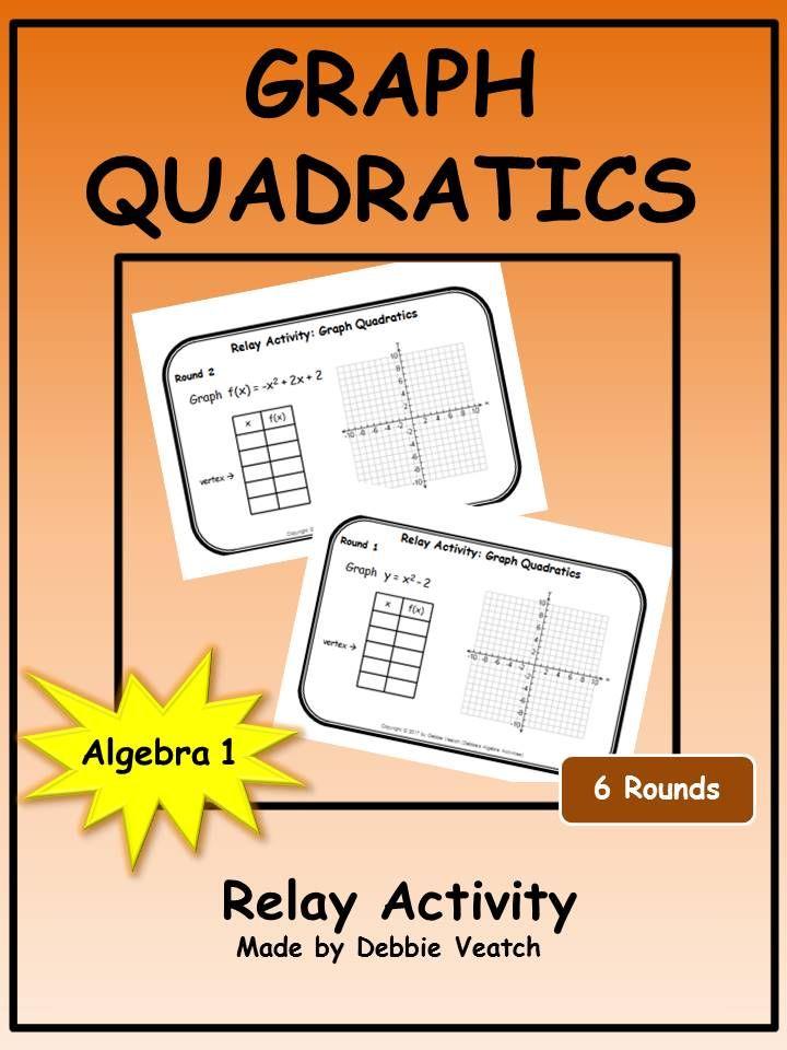 Graph Quadratics Relay Activity Standard Form Algebra Activities
