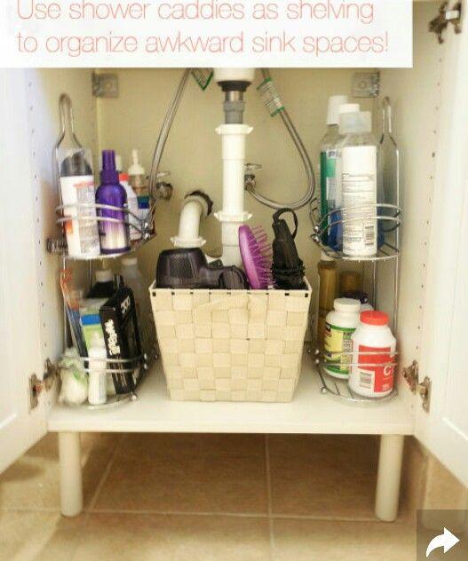 Shower Caddy Reuse Small Bathroom Storage Solutions Bathroom Storage Solutions Small Bathroom Storage