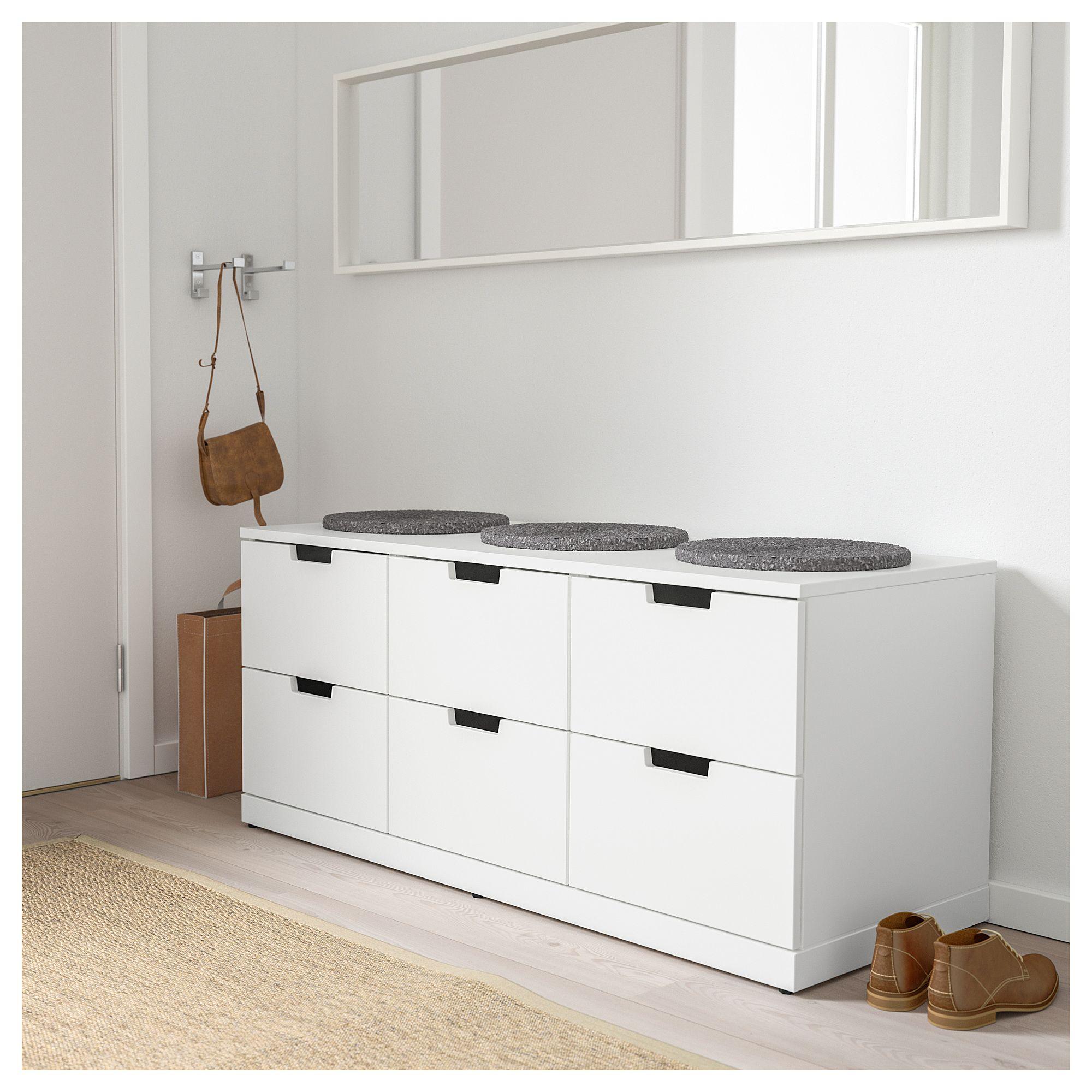 Best Nordli 6 Drawer Dresser White 47 1 4X21 1 4 120X54 Cm 400 x 300