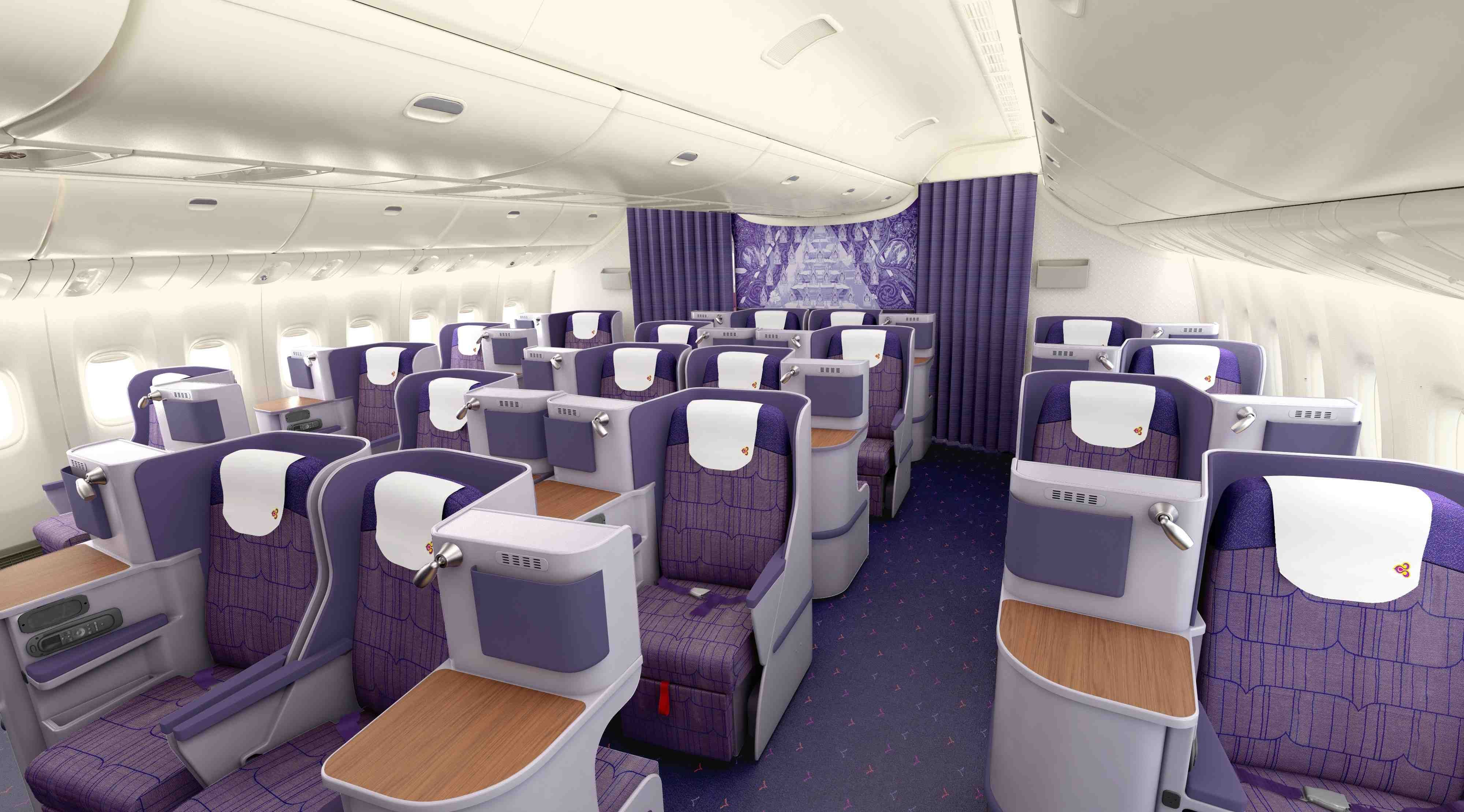 Thai airways boeing 777 business class is one of the for Migliori cabine business class 2017