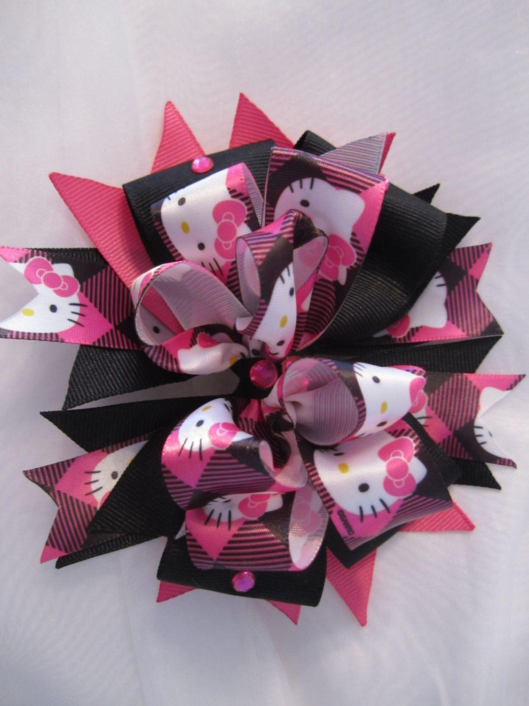 Hello kitty hair bow ucuc pinterest hair bow hello kitty and
