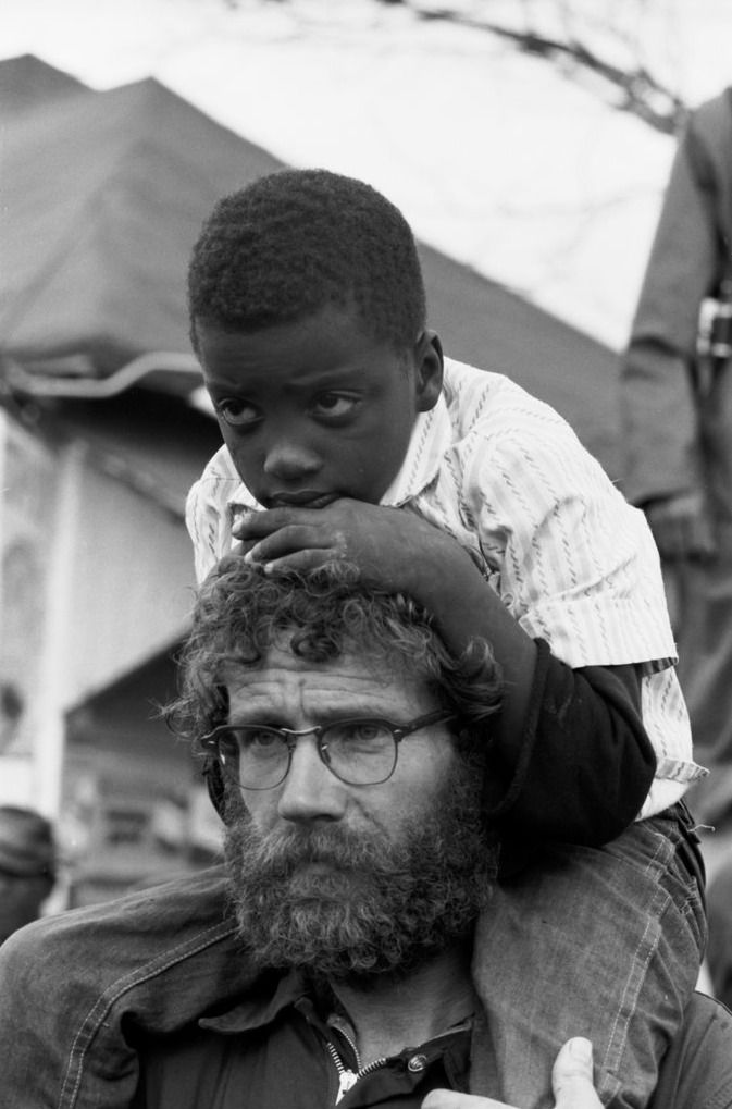 Faces in the crowd on the Selma to Montgomery March, 1965. Photo: John Karales