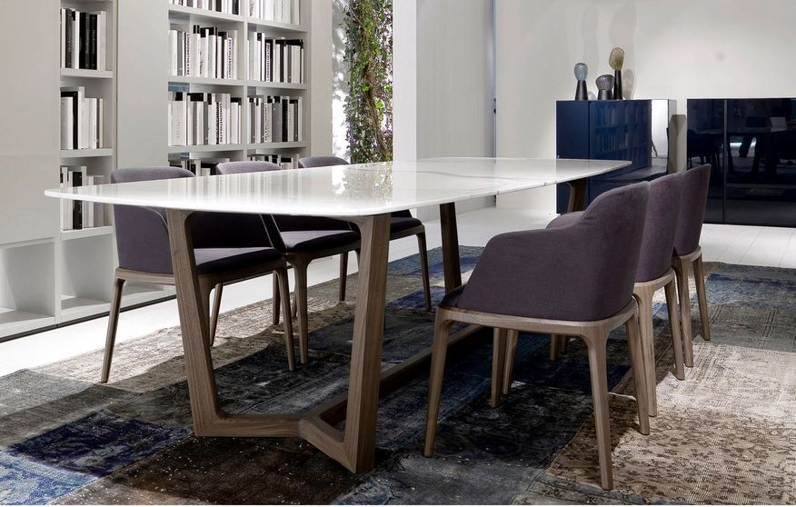 Wafer Look Marble Dining Table Marble Marble Top Dining Table