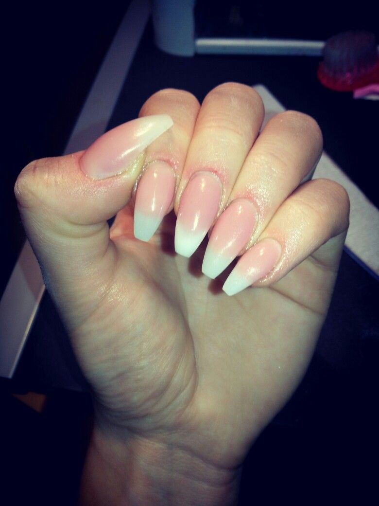 Baby boomer Faded French Gel nails✨✨ coffin shape | nails | Pinterest