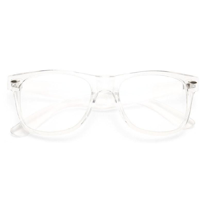 d11685199d314 Jude Large Unisex Transparent Clear Horn Rimmed Glasses  fashion  clothing   shoes  accessories
