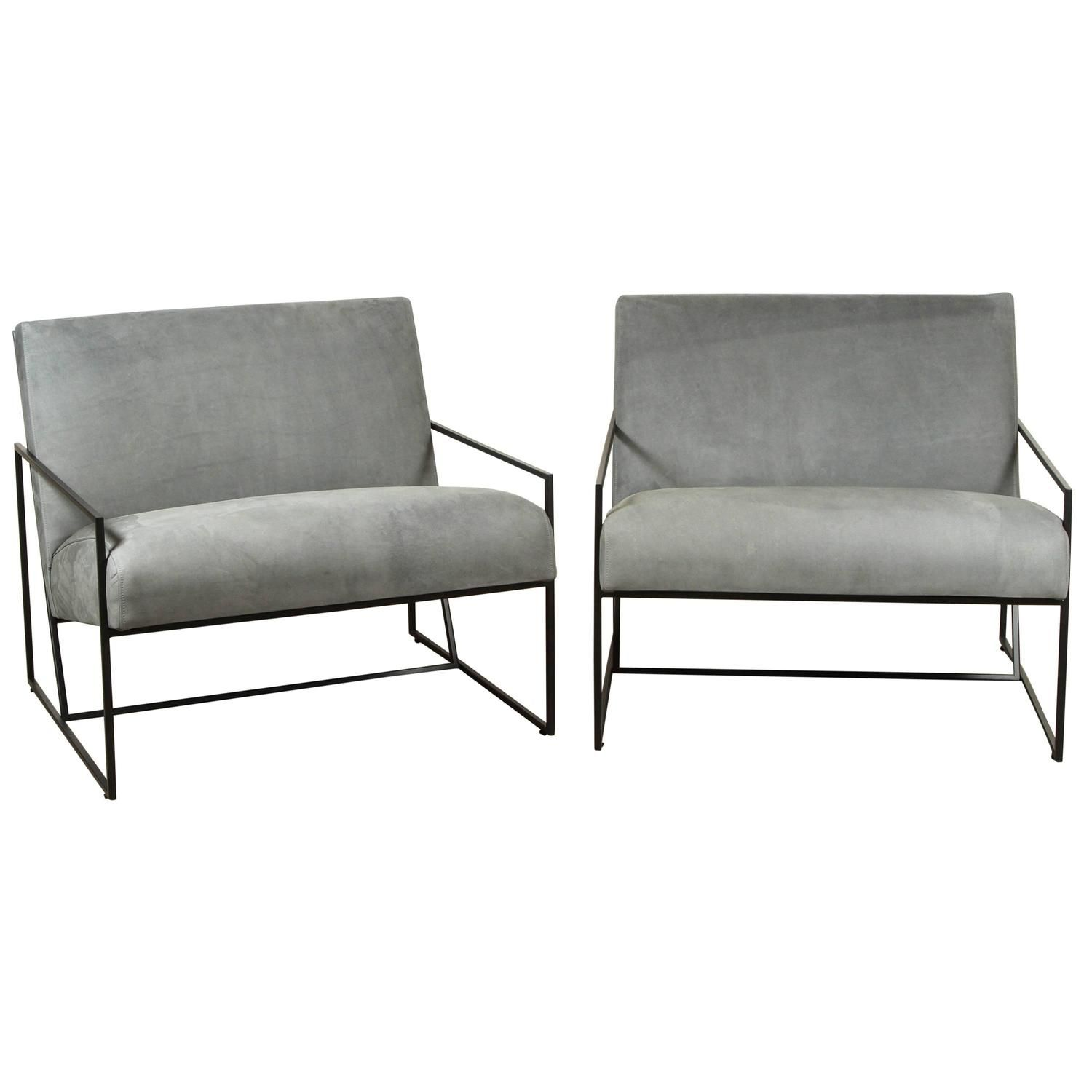 Thin Frame Lounge Chairs by Lawson Fenning