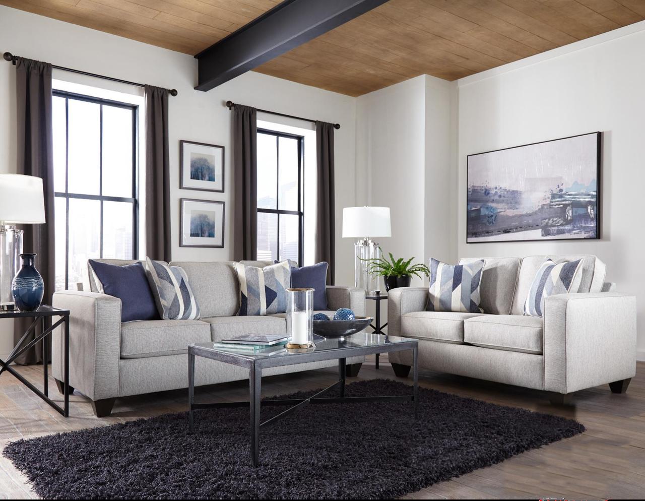Albany Crypton Slate Sofa Loveseat Set Savvy Discount Furniture Living Room Sets Sofa And Loveseat Set Coastal Living Rooms #velletri #pewter #living #room #set