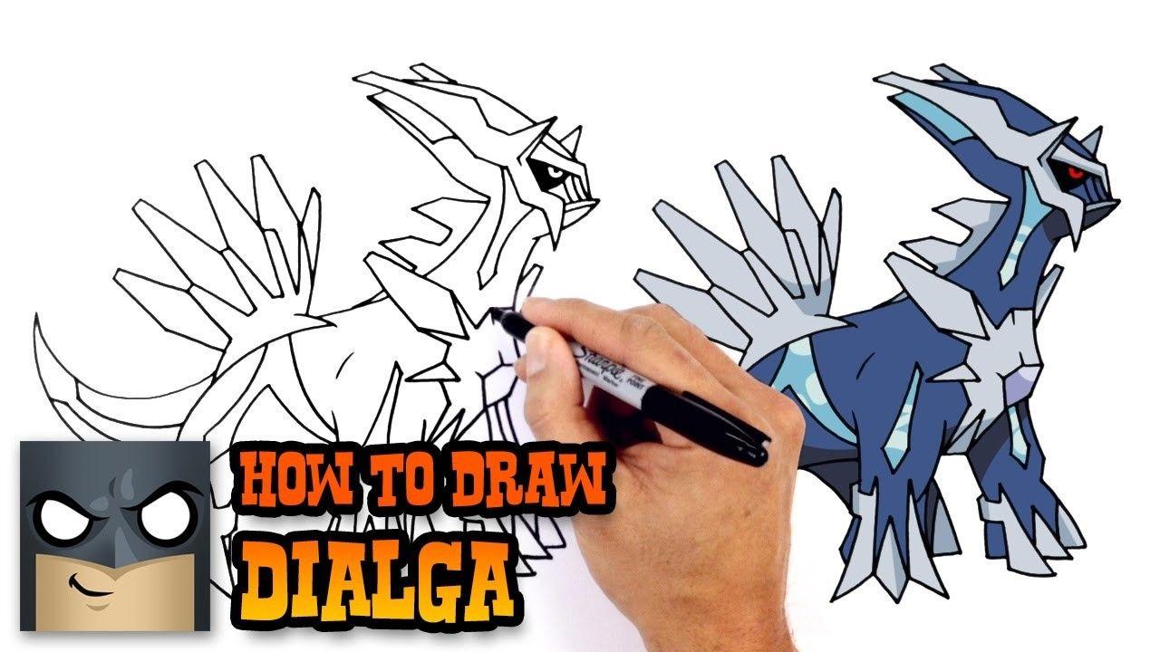 How To Draw Dialga Pokemon Pokemon Drawings Drawing Tutorial Drawing Superheroes