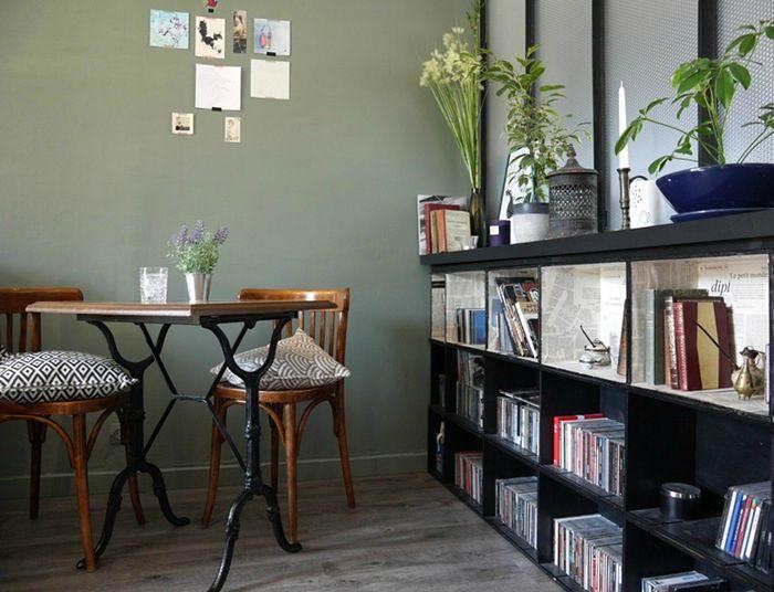 Réaliser Une Bibliothèque Avec Des Caisses À Vin #Bibliothèque