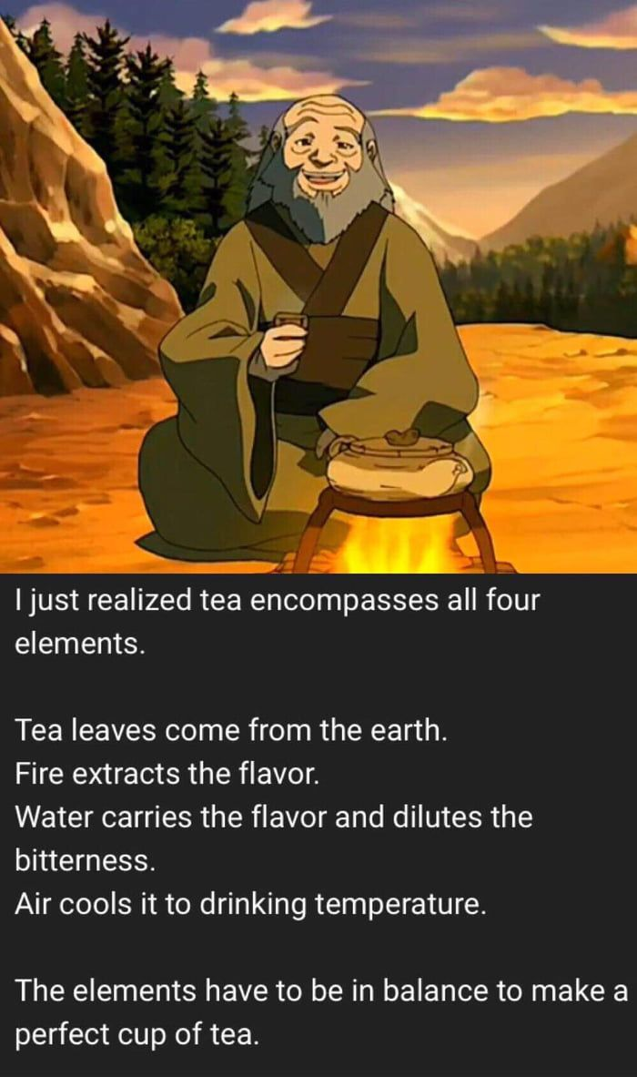 Long time fan of Avatar: The Last Airbender. Iroh is ever the voice of wisdom.