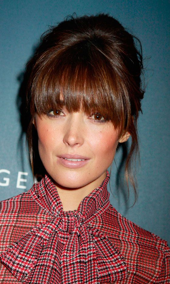 Celebrity Hairstyle Trend: Fringes | Rose byrne, Rose and Hair style