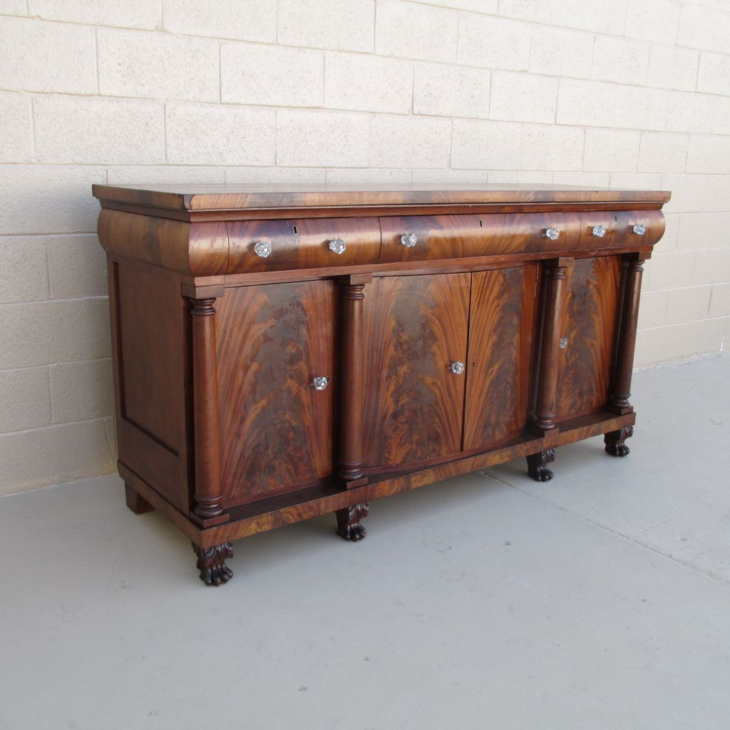 American Antique Mahogany Sideboard Buffet Antique Furniture - American Antique Mahogany Sideboard Buffet Antique Furniture