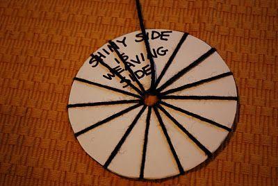 Make It... a Wonderful Life: CD Weaving Tutorial: recycled CD loom! #recycledcd Make It... a Wonderful Life: CD Weaving Tutorial: recycled CD loom! #recycledcd