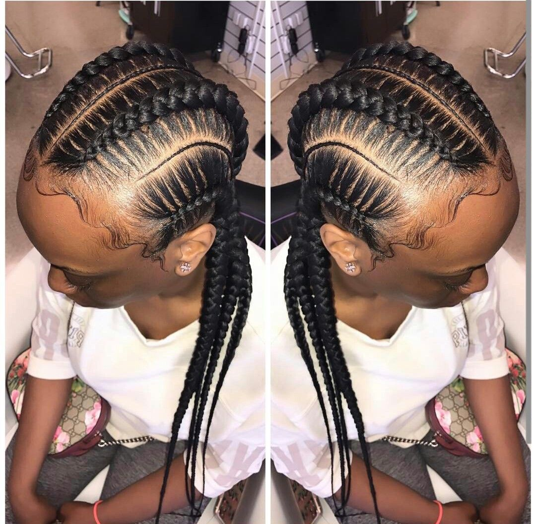Pin by MelaninGodess on STRAIGHT BACK BRAIDED | Straight back braids, Cute hairstyles, Hair styles