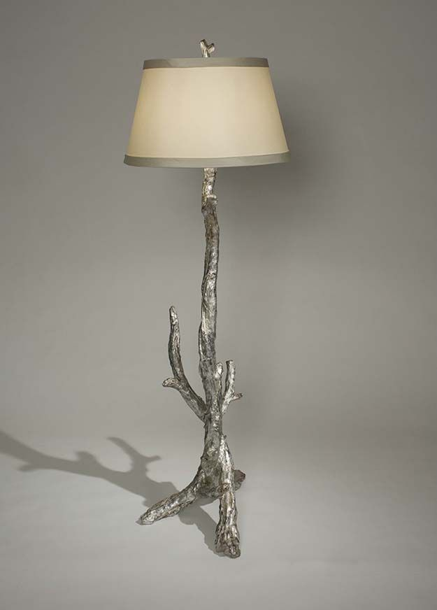 Superb Silver Branch Floor Lamp Western Lamps   Artistically Designed Branches  Created In Resin And Finished With