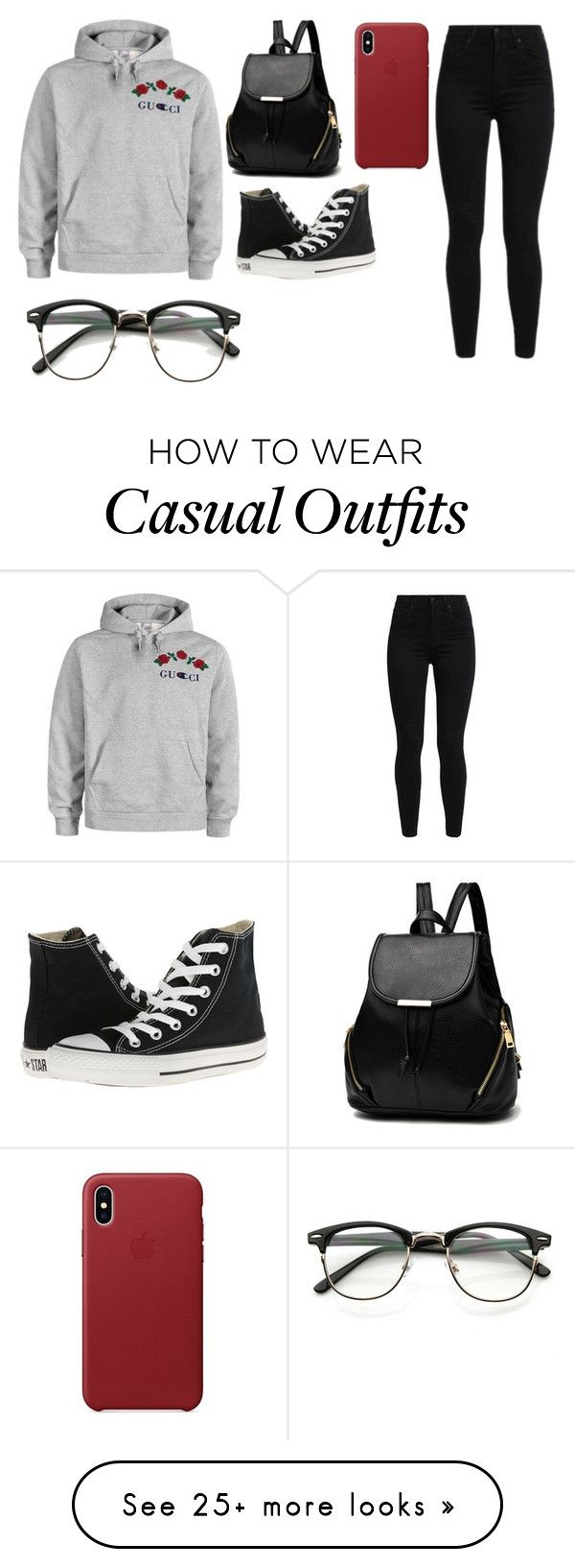 """Are we Gucci"" by johannaelyce on Polyvore featuring Gucci, Levi's and Converse"