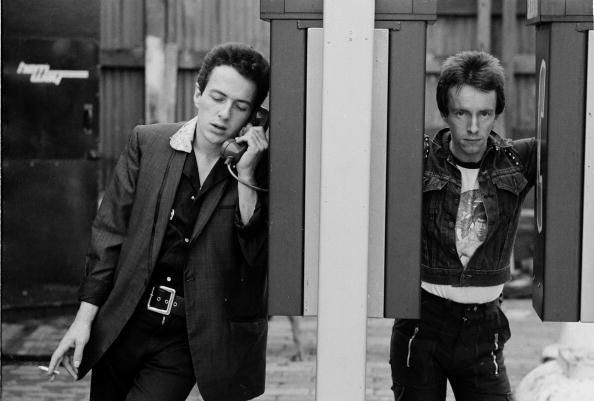Joe Strummer and Topper Headon, the Clash