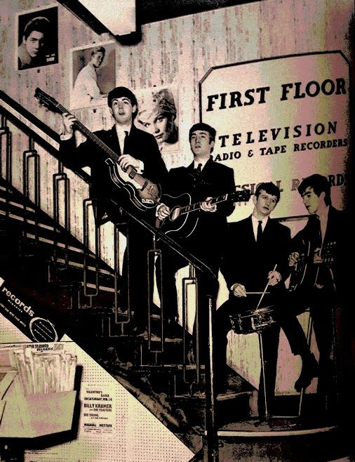 ♮*The* Beatles between floors at NEM'S The Epstein Family's Electrical Store ♮ …