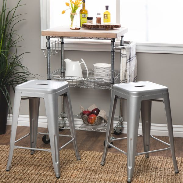 Tabouret 24-inch Metal Counter Stools (Set of 2) | Home sweet home ...