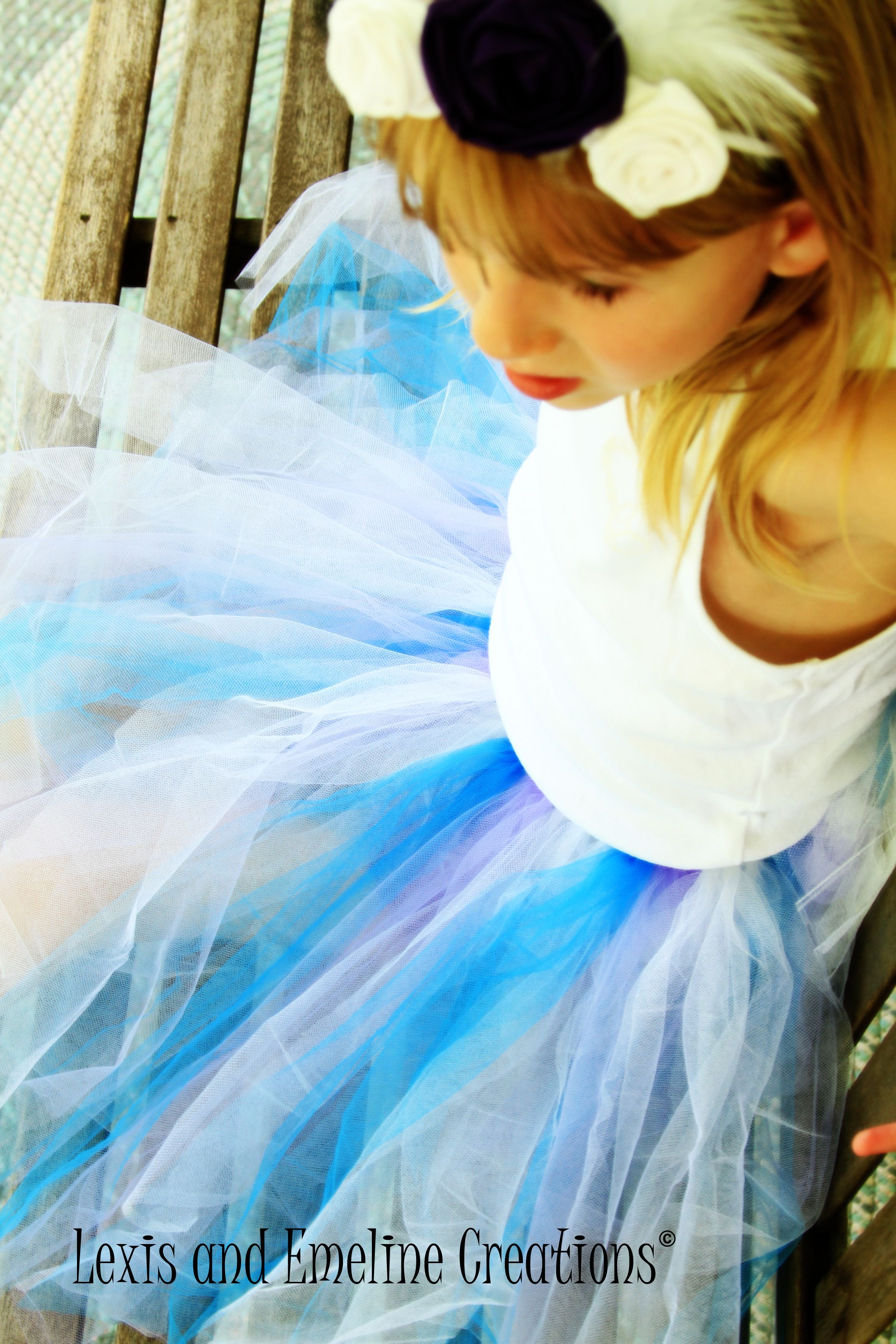 {Blue, Purple and White Princess Tutu} Non-Glitter  Newborn- $16.00  Toddler- $19.00  (We customize any color and length you need.)