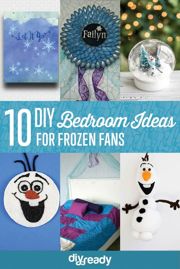10 DIY Bedroom Ideas for Frozen Fans | Cool And Cute Disney Decor For Kids by DIY Ready at http://diyready.com/10-diy-bedroom-ideas-for-frozen-fans/