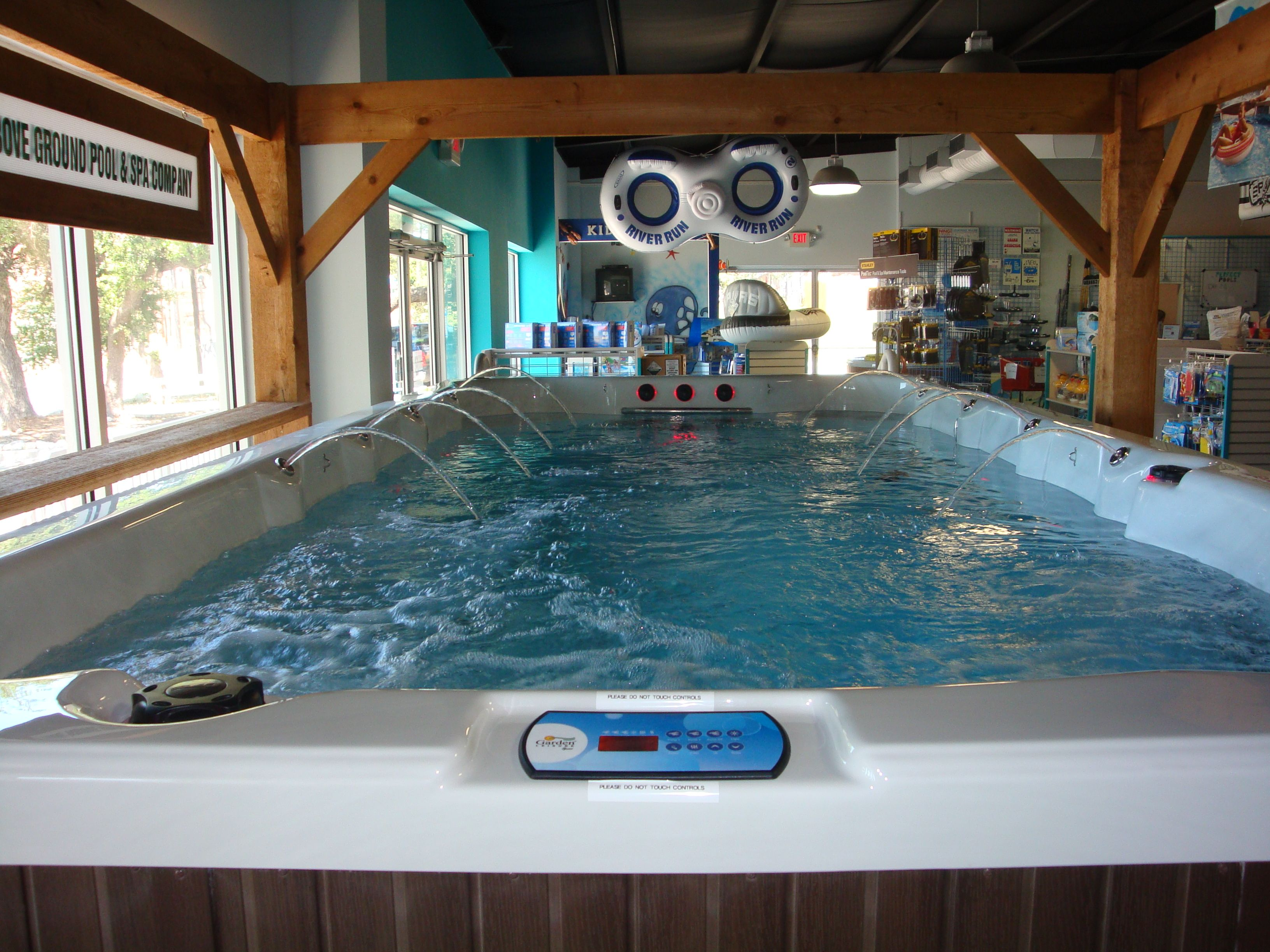 indoor garage pool house | agp swim spas beat swimming pools