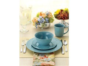 Aqua 16-pc. Whitaker Dinnerware Set by Paula Deen by Paula Deen at ...