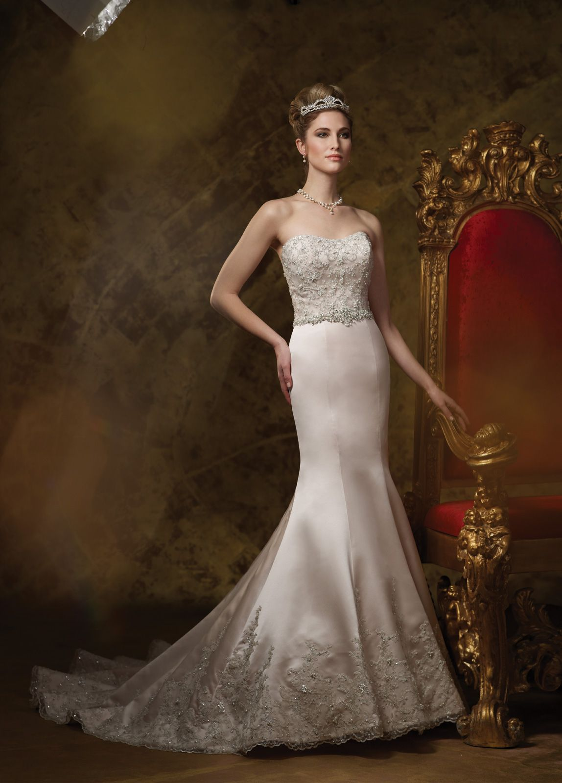 Wedding dresses collection u strapless lace and satin mermaid