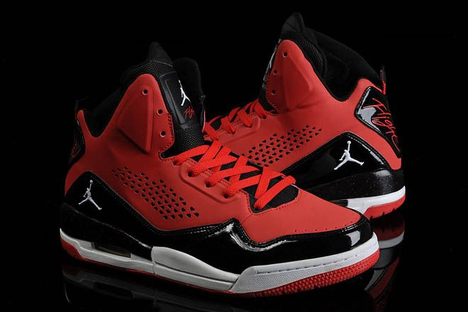 Air Jordan Mens Flight 45 High Sports Shoes Varsity Red Black-White ... 3a0809633