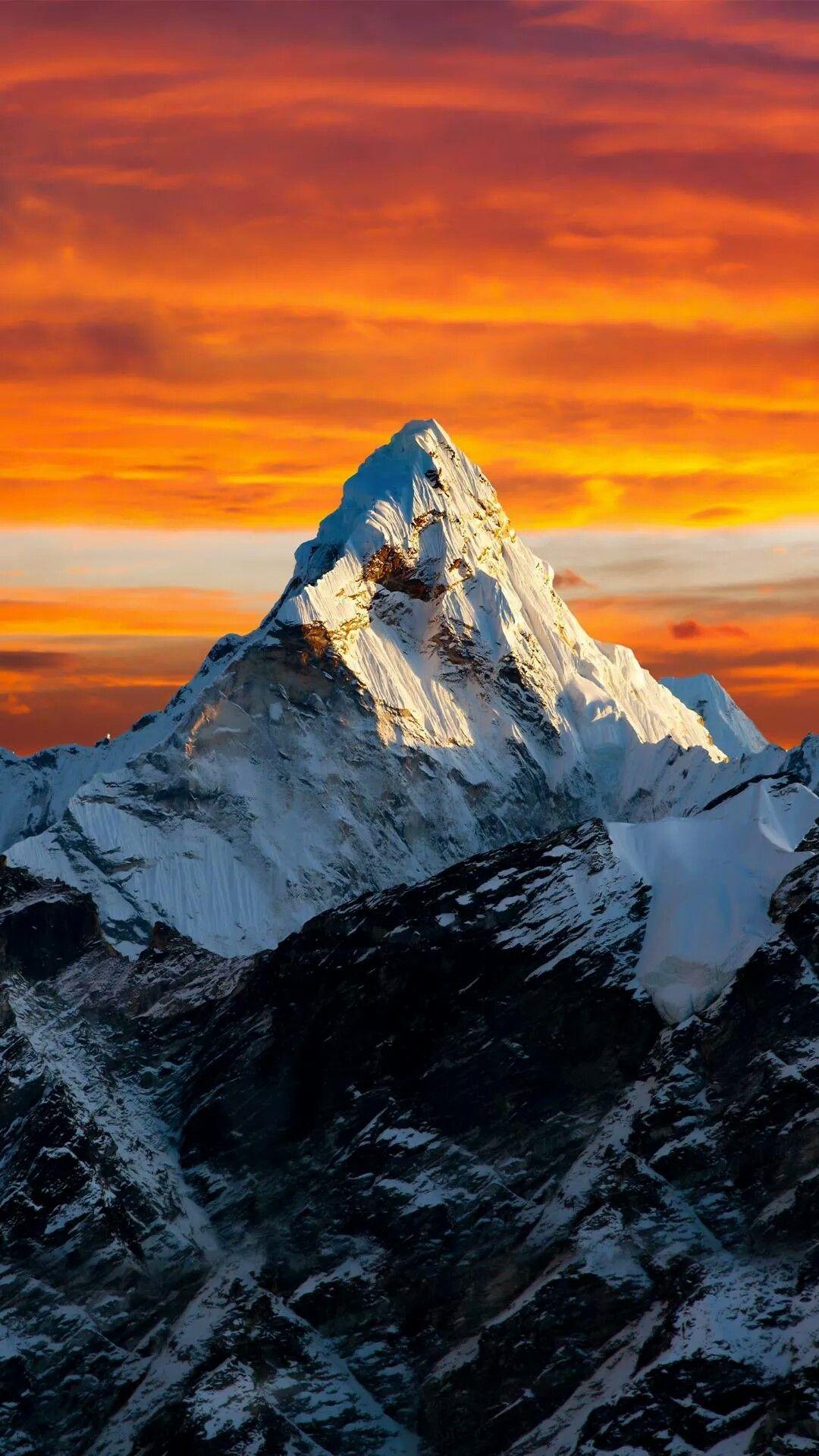 Snowy Mountain Under Sunset Landscape Wallpaper Beautiful Landscapes Landscape Photography