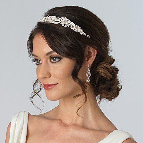 fashion crystal floral tiara usabride wedding accessory