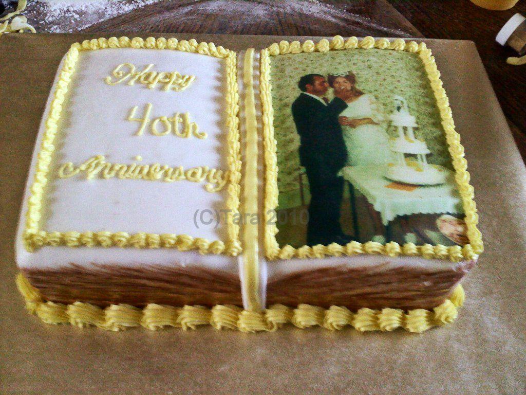 Th wedding anniversary cake th wedding anniversary ruby