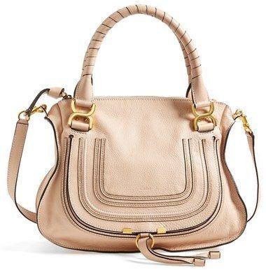 9a38e3cacee65  795, Beige Leather Crossbody Bag  Chloé Marcie Small Leather Crossbody  Bag. Sold by