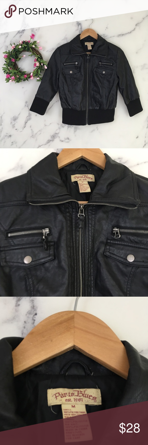 Paris Blues Shiny Black Faux Leather Bomber Jacket Faux Leather Bomber Jacket Faux Leather Bomber Leather Bomber Jacket [ 1740 x 580 Pixel ]