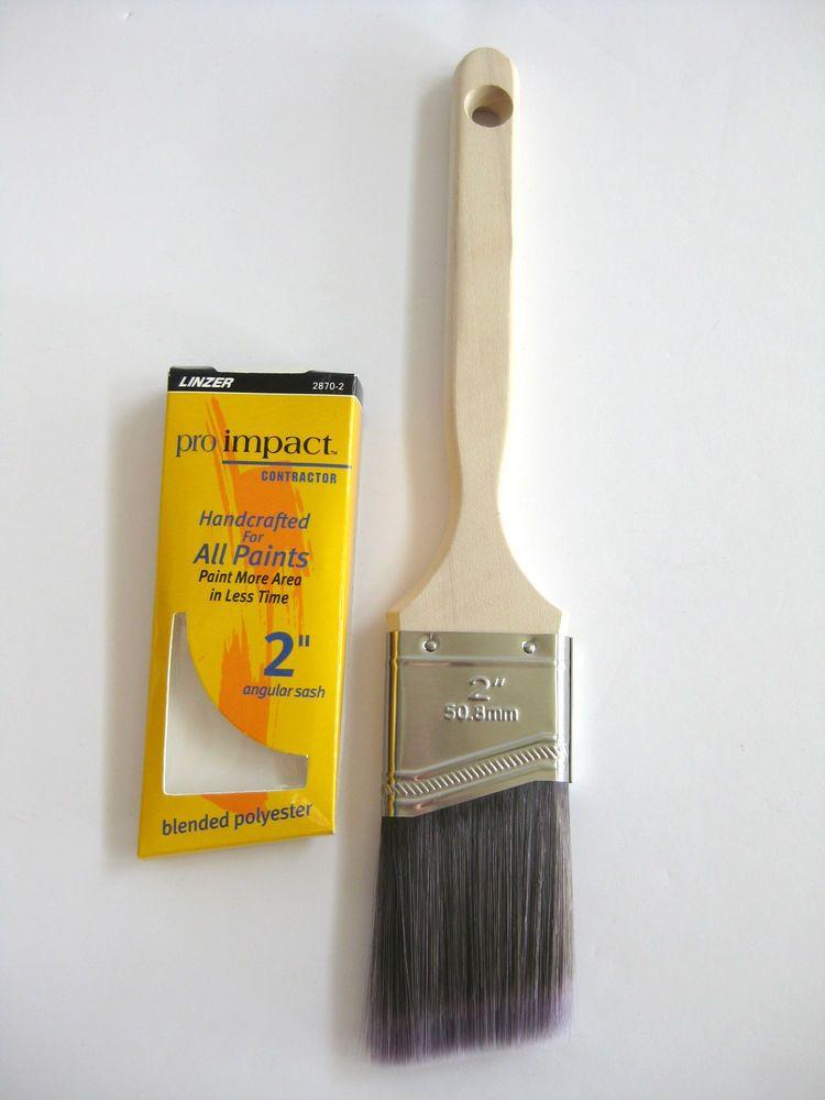Linzer Paint Brushes 2 Angular Sash 2870 2 Pro Impact Blended Polyester Linzer Paint Brushes Painting House Painting