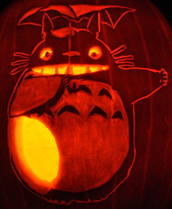 totoro nekobus cat bus pumpkin halloween ideas pinterest