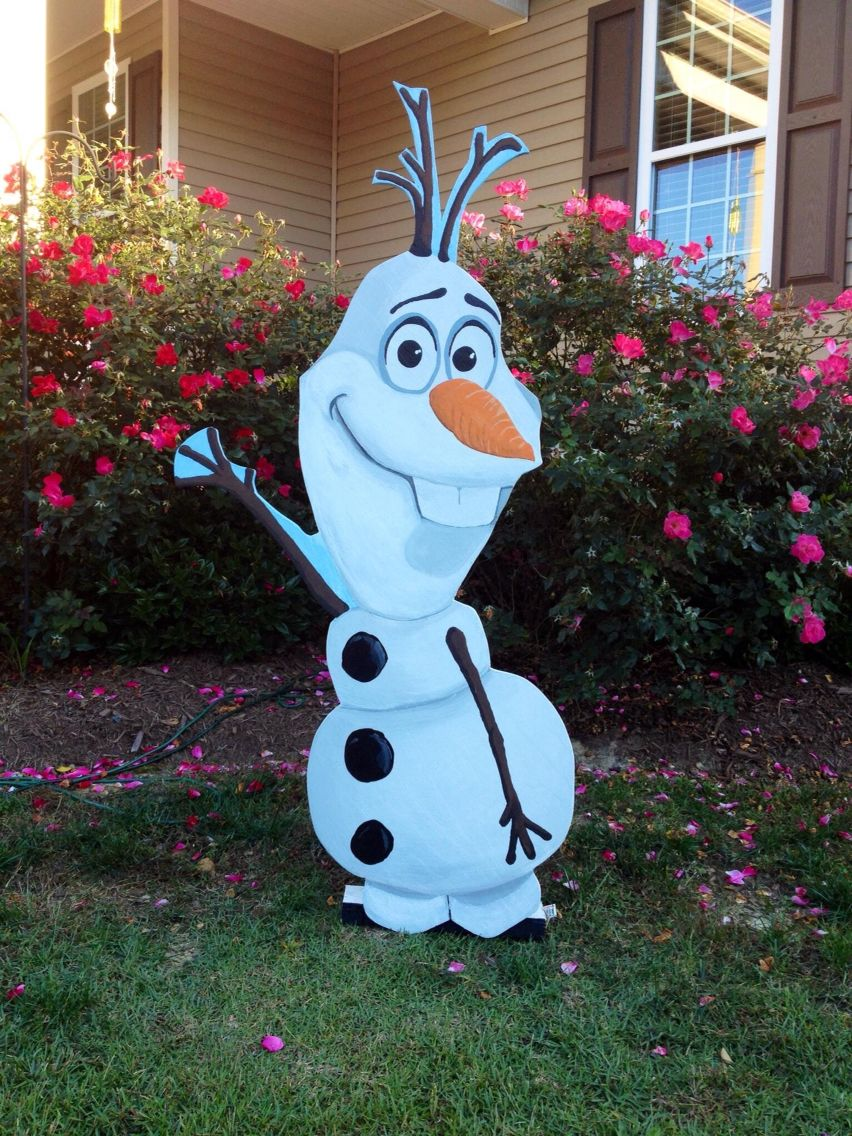 Olaf Wood Cutout for Christmas! | For the home | Pinterest | Wood ...