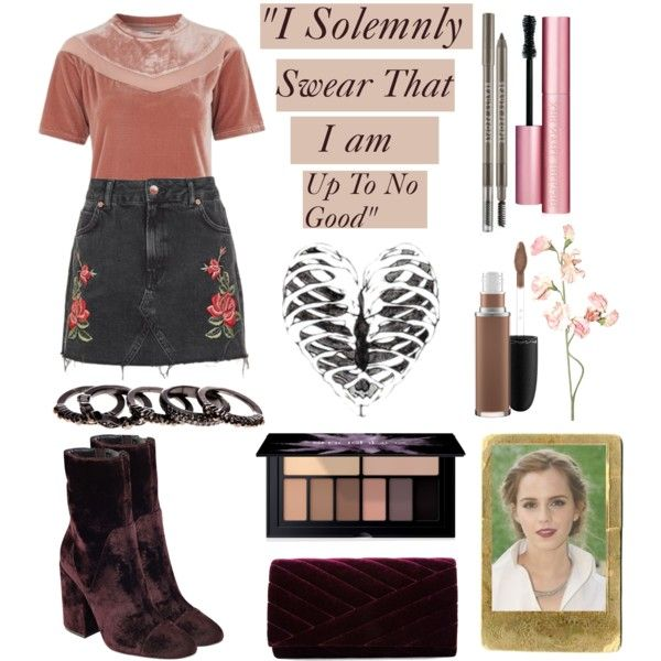 Grunge style by teenstyleguide on Polyvore featuring polyvore, fashion, style, Glamorous, Topshop, Kendall + Kylie, Gunne Sax By Jessica McClintock, Free Press, Smashbox and Too Faced Cosmetics