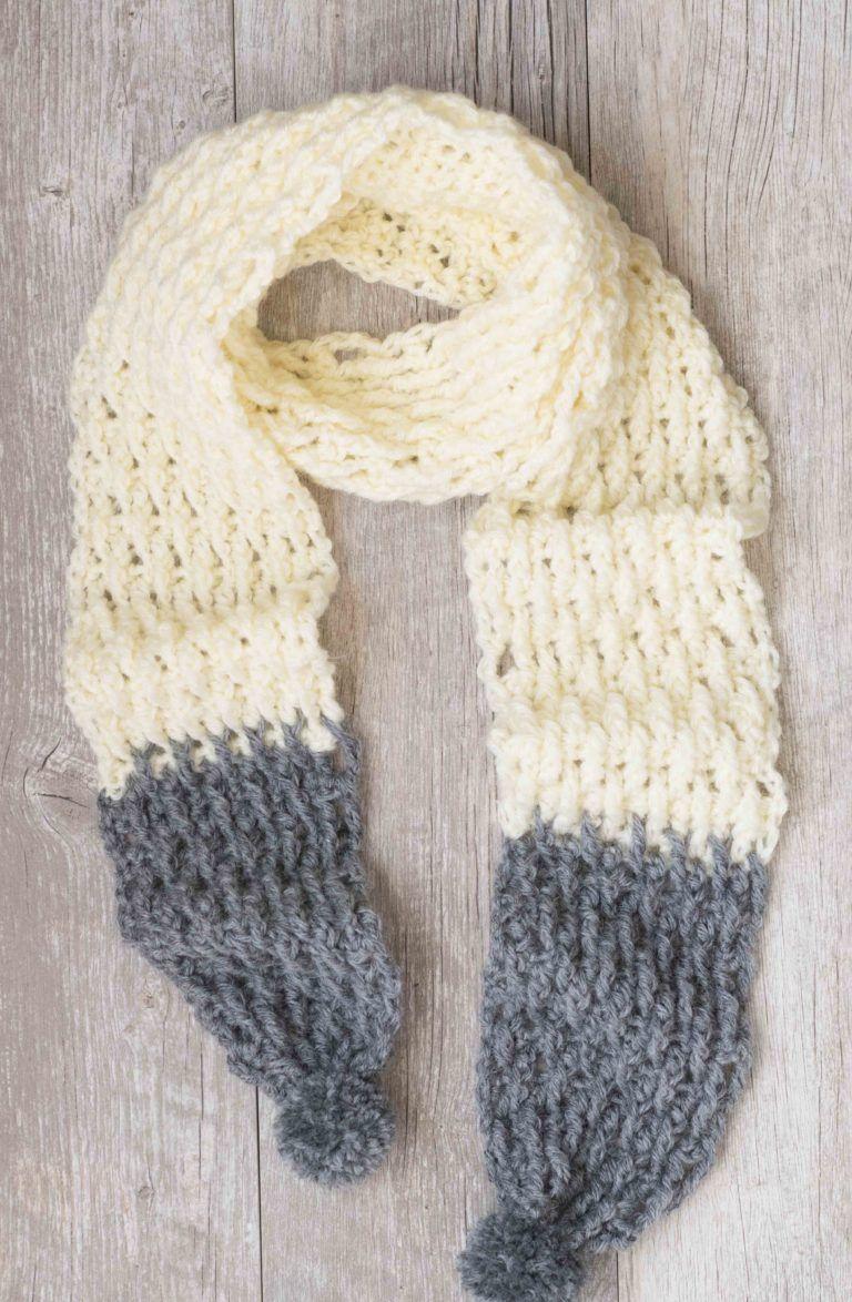Alpaca Squishy Dip Dyed Scarf Pattern | Crochet | Pinterest ...