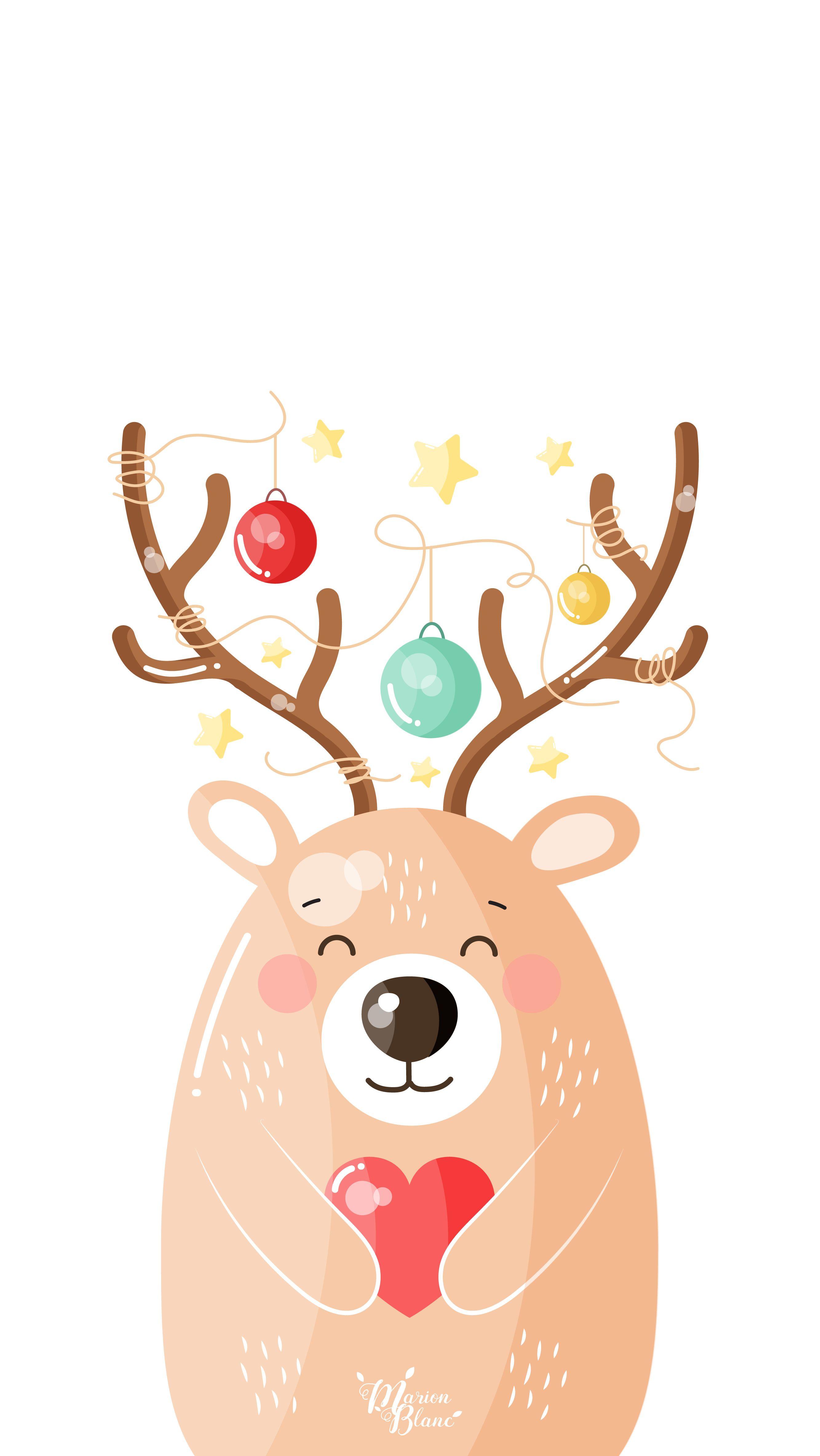 Bear Deer Marion Blanc Phone Wallpaper Pinterest Christmas