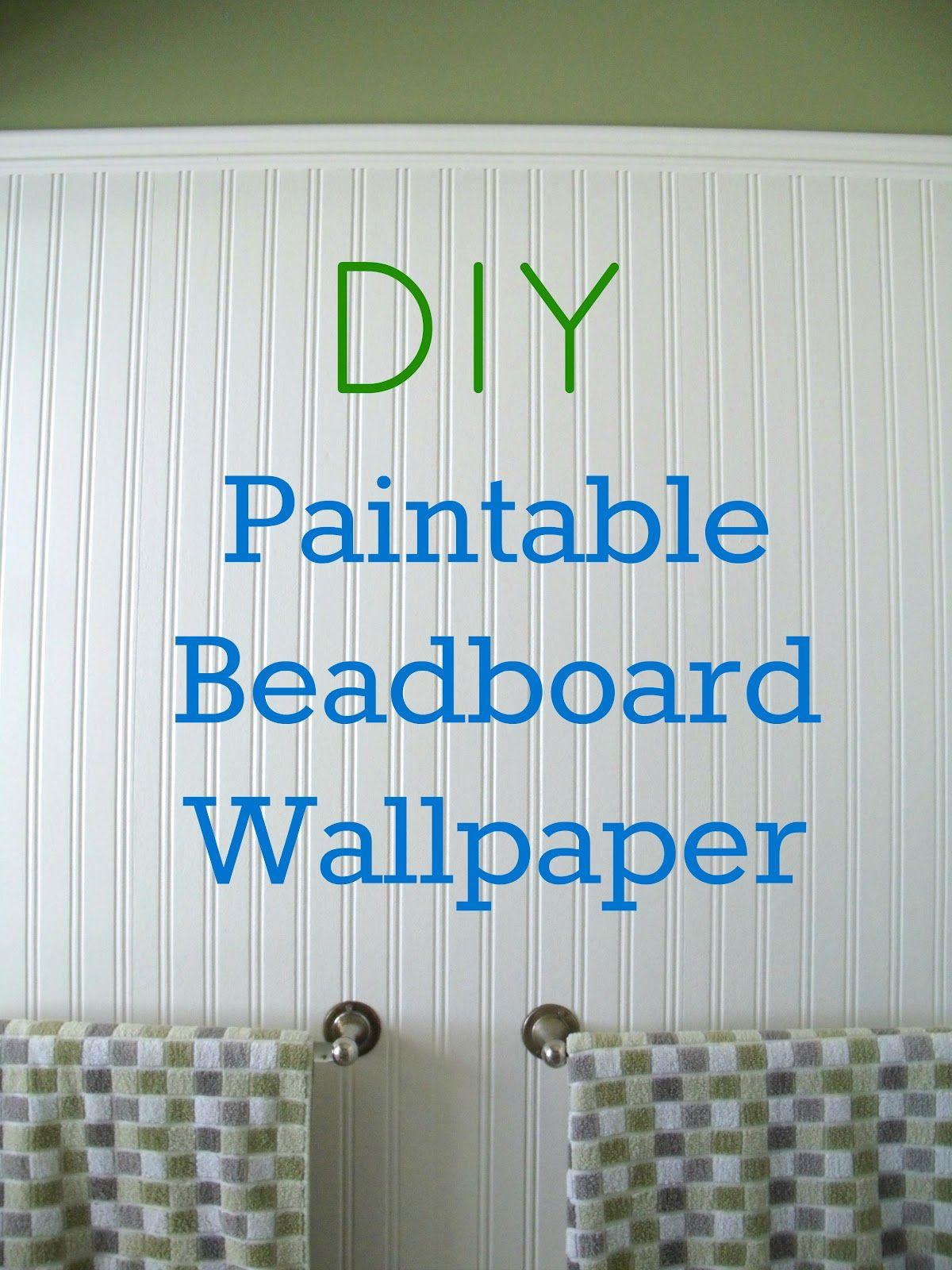 Martha Stewart Living 56 sq. ft. 1 Double Roll Beadboard Paintable ...