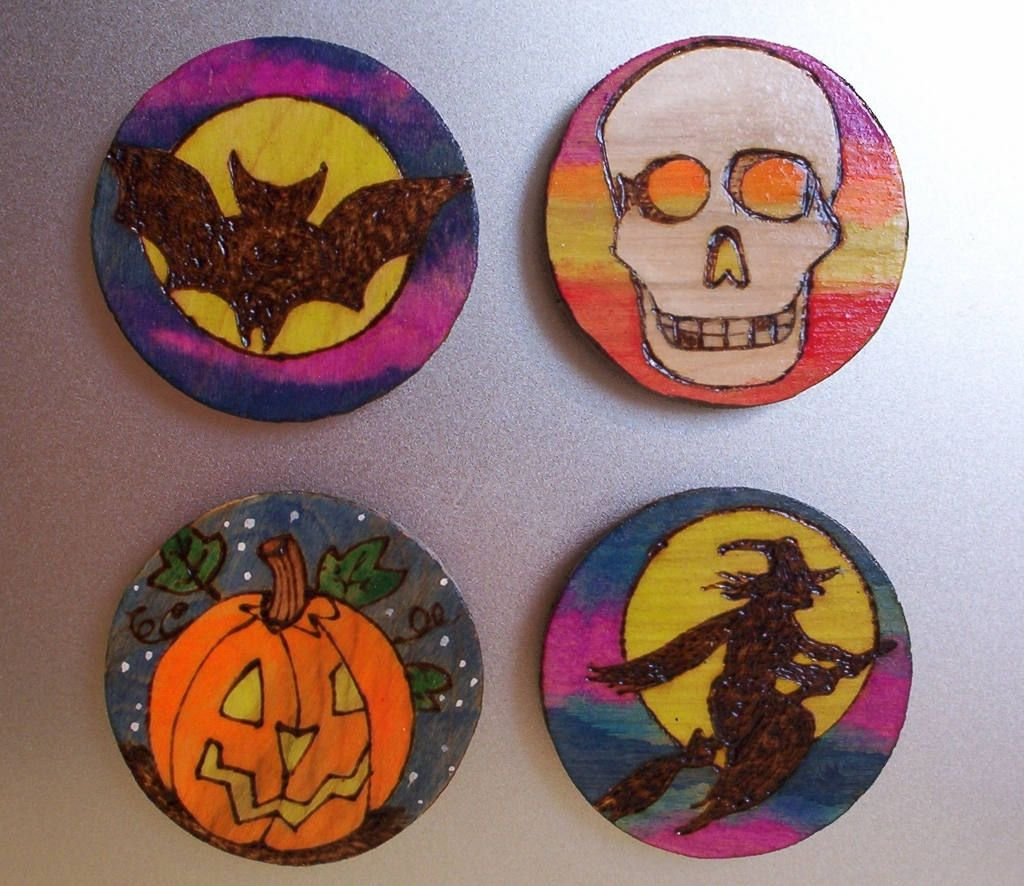 office halloween themes. Office Halloween Themes. Magnets Kitched Theme Set Of Four 3 Inch Wood Burned Themes