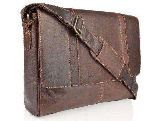 Image of Burnish Leather Messenger Bag