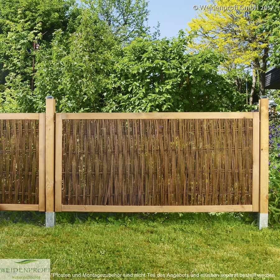Gartenzaun Im Holzrahmen Mit Weidengeflecht Mit Bildern Garten Bienenfreundlicher Garten Gartengestaltung
